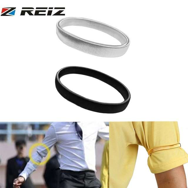 0003afd55d73 Arm Sleeve Sport Anti-slip Metal Shirt Sleeve Holders Arm Bands Elasticated  Metal Armband For Men Ladies Armband Accessories