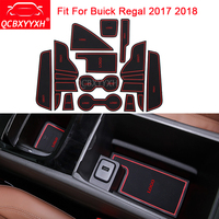 QCBXYYXH For Buick Regal 2017 2018 Dedicated CarStyling 12Pcs Slot Pad Interior Door Groove Mat Latex Anti-Slip Cushion Internal