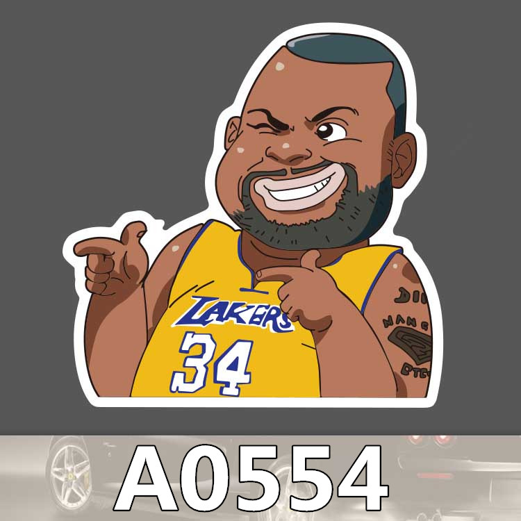 Bevle A0554 Shaquille O'Neal Waterproof Sticker For Cars