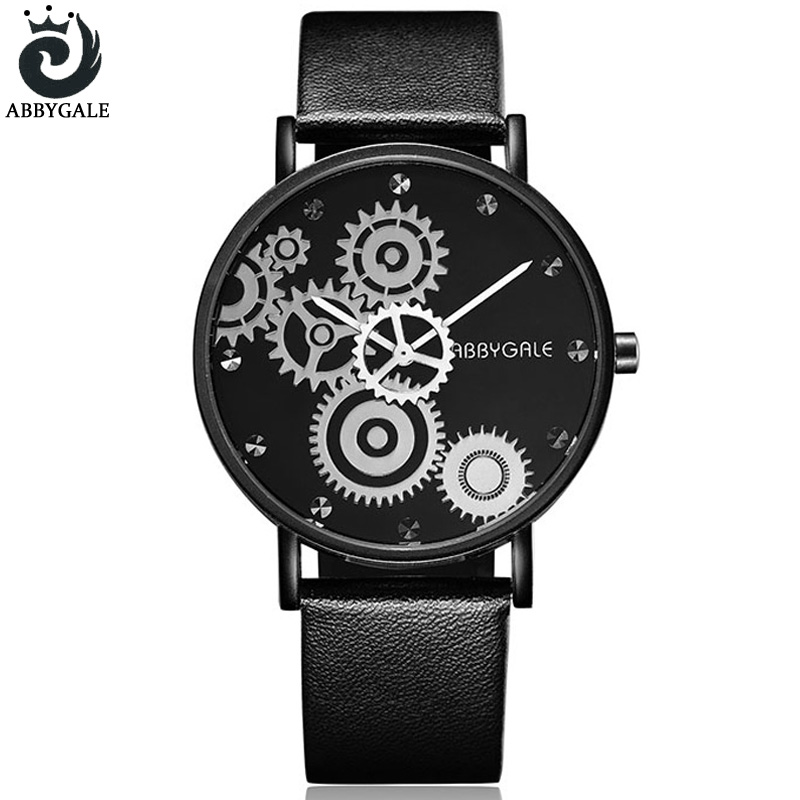 Unique Gears ABBYGALE Watches Womens Quartz-watch Fashion Dress Ladies Wristwatch 2017 Faomous Luxury Brand Clock Reloj Mujer
