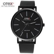 OTEX de primeras Marcas de lujo de Negocios de Moda Relojes Cuero de Los Hombres Relojes Impermeables de Los Hombres Reloj de Cuarzo Relogios masculino