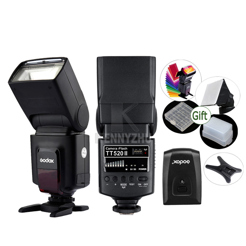 GODOX TT520 II + RT Wireless Transmitter Trigger Flash Light Speedlite for DSLR Camera Canon Nikon Pentax Olympus