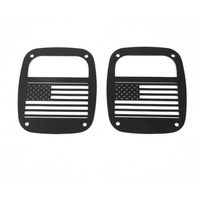 MOPAI 2Pcs Metal Black USA Flag Tail Light Cover Decoration Exterior Protection For Jeep Wrangler TJ 1997 2006 Car Styling