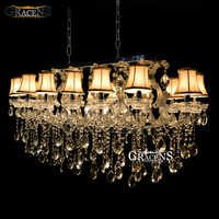 Rectangle Crystal Chandelier Light Fixture, Flush Mount Silver chrystal Lamp lustre for Hotel, Restaurant, Living Room