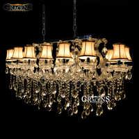 Lámpara de araña de cristal rectangular, lámpara de cristal de plata de montaje a ras para Hotel, restaurante, sala de estar
