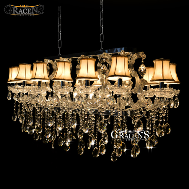Rectangle Crystal Chandelier Light Fixture Flush Mount Silver Chrystal Lamp Re For Hotel Restaurant