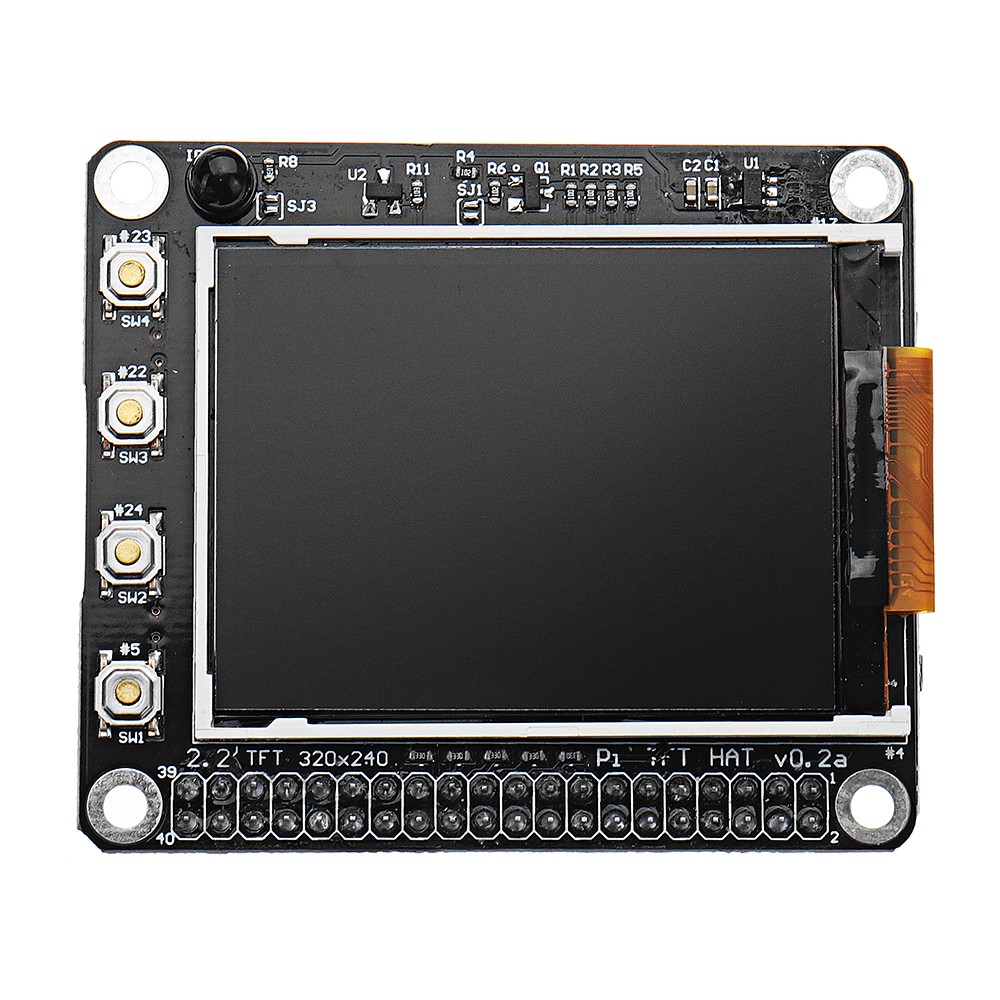 2.2 inch 320x240 TFT Screen LCD Display Hat With Buttons IR Sensor For Raspberry Pi 3/2B/B+/A+2.2 inch 320x240 TFT Screen LCD Display Hat With Buttons IR Sensor For Raspberry Pi 3/2B/B+/A+