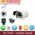 -40'C зимнего использования 2 К ip камера 4mp BSI встроенный датчик нагреватель ИК-ПОДСВЕТКОЙ 1440 P/1080 P HD cctv камеры безопасности открытый GANVIS GV-T437VH
