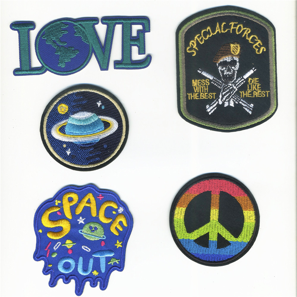 The Universe Space Planet The Air Force Patches Iron On Embroidered Patch For Clothing Stick On Paste For Clothes Bag Pants