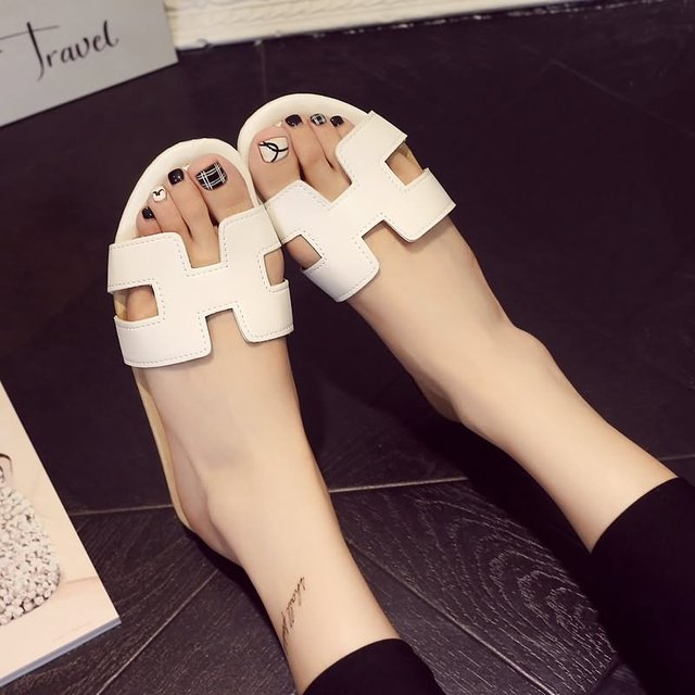 Women Open Toe Slippers Summer Beach Shoes Female Slippers Flip Flop Slide Sandals Casual High Quality Brand