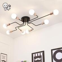 Большой черный Утюг потолочный светильник современная северные скандинавские подвесной светильник Plafon блеск для фойе Гостиная Спальня E27 E26