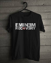 Eminem Recovery T-Shirt Rap Tee Size S,M,L,XL,2XL,3XL Tops wholesale Tee custom Environmental printed Tshirt cheap wholesale(China)