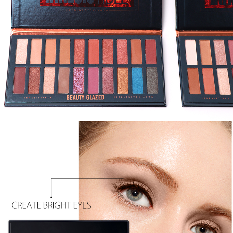 Beauty Glazed Brand Makeup Highlight Palette Powder Palette Shadow Cosmetics Matte Face Makeup Pressed Pale 4 Colors In 1 Beauty & Health