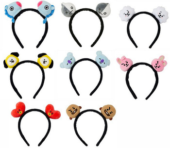[MYKPOP]2018 New BTS Bangtan Boys BT21 Cartoon Headband Hairband Cute Plush Toys Hair Accessories for Unisex SA18032402 lenzendoosje