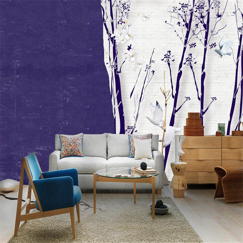 custom 3d photo wallpaper large modern minimalist living room bedroom background wall mural nordic character tree wallpaper валерий кастрючин сказки волшебного сада