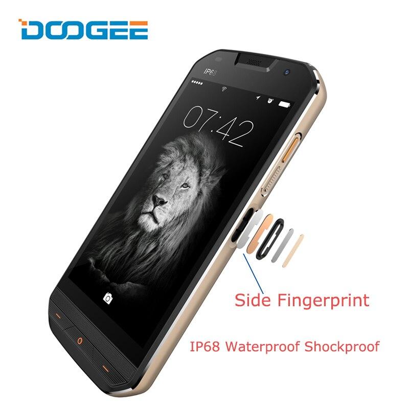 DOOGEE S30 4G LTE Smartphone Android 7.0 5 pouces Quad Core 2 GB + 16 GB 5 V 2A IP68 étanche antichoc empreinte digitale de téléphone 5580 mAh