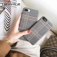 Heyytle Kumaş Izgara telefon kılıfı Için Apple iPhone X 8 7 6 S 6 Artı Kafes Sevimli Moda Yumuşak arka kapak iPhone kılıfları 10