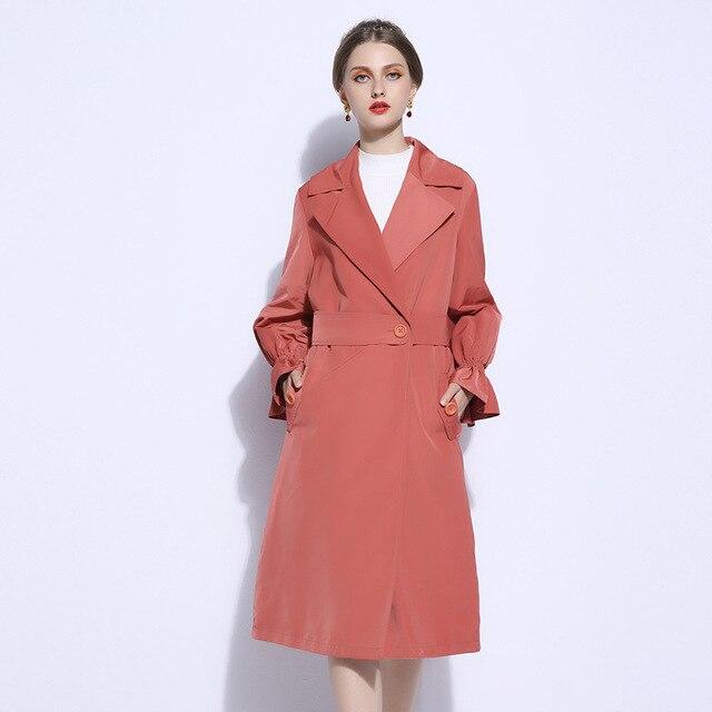 d5fc3d58f75c6 European Trench Coat Poncho Runway Elegant Long Dress Coats Ladies Tweed  Autumn 2018 Fall Womens Outwear