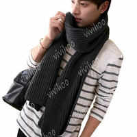 Hot Sale 2017 New Fashion Women Men Unisex Solid Color Warm Winter/Autumn Long Neckerchief Knitted Shawl Wrap Stole Scarf