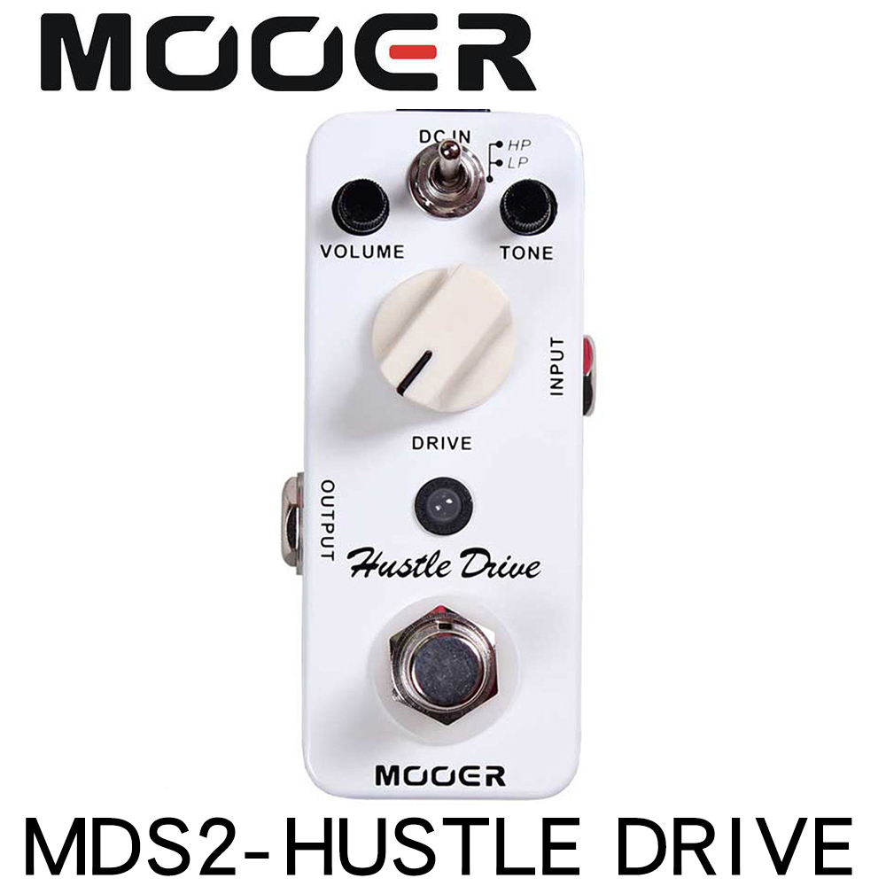 MOOER MDS2 Micro Hustle Drive Distortion effect guitar pedal Tube-like Drive sound Guitar Pedal Compact image