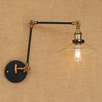 Sconces Loft Retro Vintage Wall Lights Fixtures Adjustable Swing Long Arm Light Edison Industrial Wall Lamp Appliques Murales