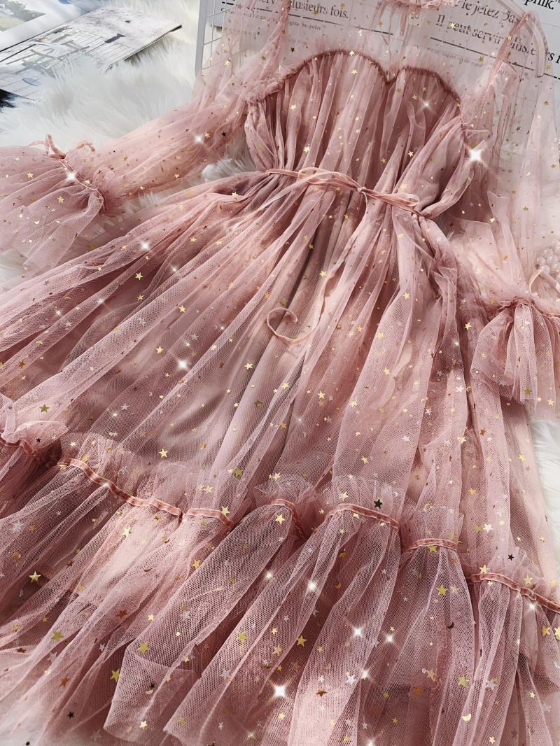 Gauze Two Piece Midi Dress 19