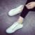 2016 Zapatos de Lona de Las Mujeres Zapatos de Moda Lace Up Color Sólido Todo plana Zapatos Casuales Venta Caliente 5 Estrella Zapatos de Marca Transpirable-E2