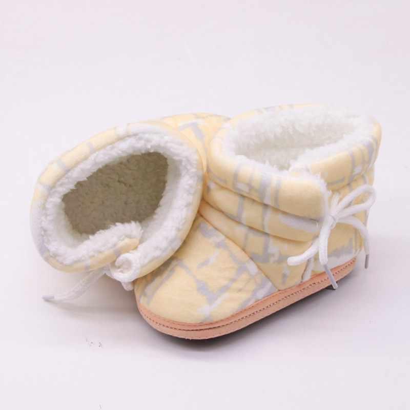 Kış Bebek Ayakkabıları Erkek Kız Kar Botları Yürümeye Başlayan Bebek Patik Prewalker Mavi Sarı Pembe Ayakkabı Sıcak Çizme Chaussure Bebe