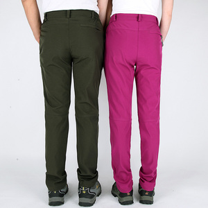 Image 2 - WWKK 야외 하이킹 전술 방수 바지 남성 등산 빠른 건조 낚시 트레킹 Softshell Trousers New wanderhose