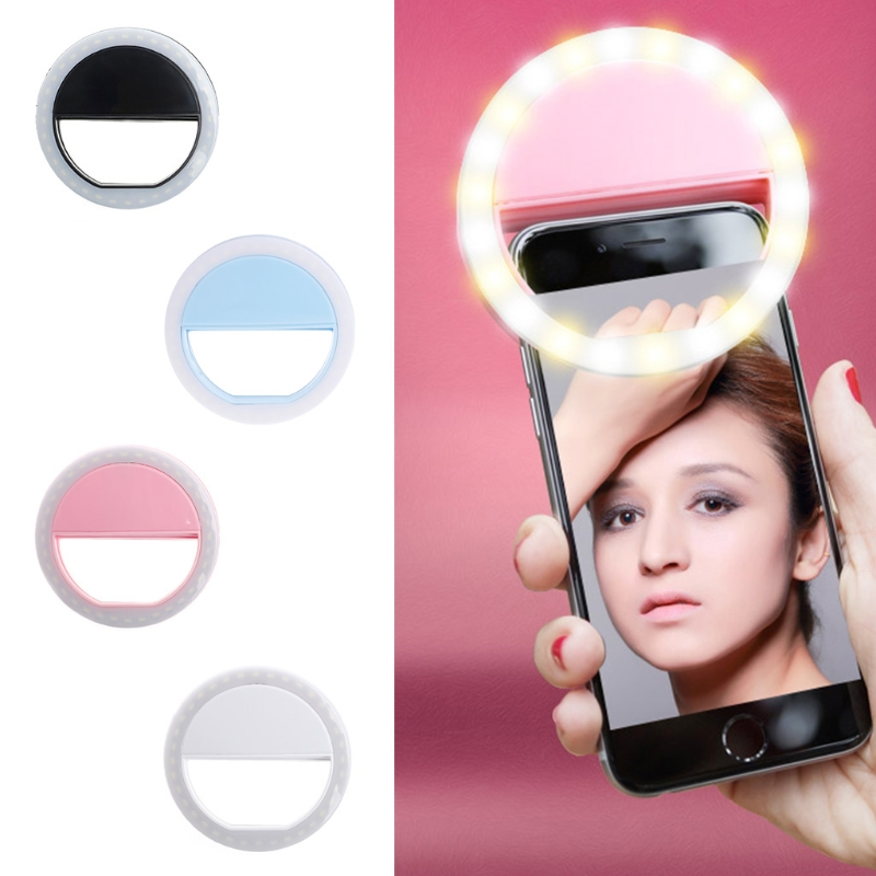 2018 Usb Usb Charging Selfie Ring Led Light Lamp Mobile Phone Lens LED Selfie Lamp Ring Flash for Iphone for Samsung Xiaomi-in Mobile Phone Lenses from Cellphones & Telecommunications on Aliexpress.com | Alibaba Group 1