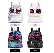 Backpack female schoolbag Fashion Sequins Bow Tie School Bag Backpack Satchel Women Travel Shoulder Bag