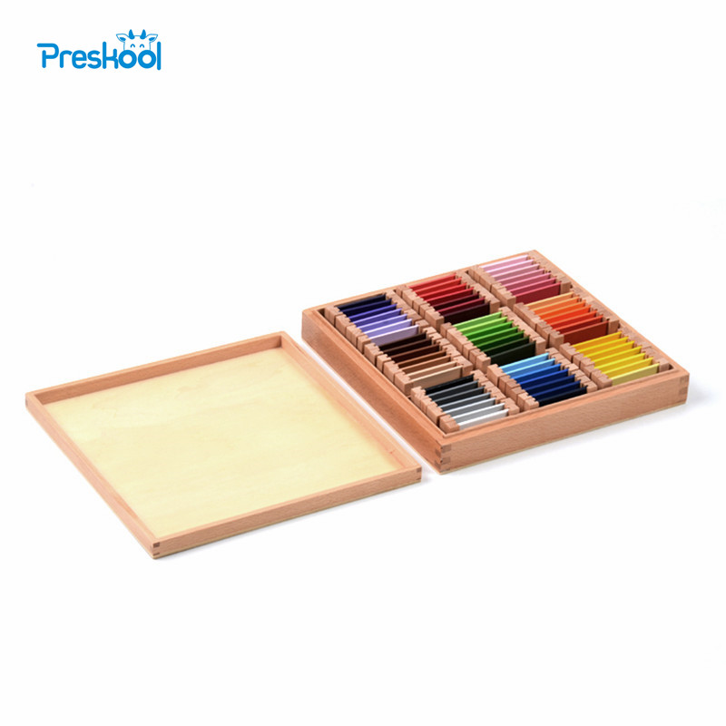 Montessori sensoriel bois couleur tablette 3rd boîte éducation de la petite enfance préscolaire formation enfants bébé jouets Brinquedos Juguetes