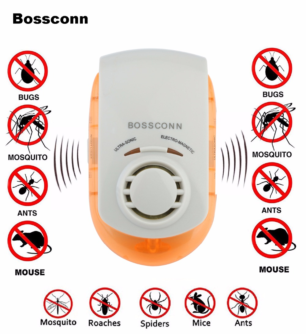 US $10 65 18% OFF|Pest Repellers Ultrasonic Electromagnetic Pest Repeller  Pest Killer 5 in 1 Pest Killer Human & Pet Friendly UP 0001-in Repellents