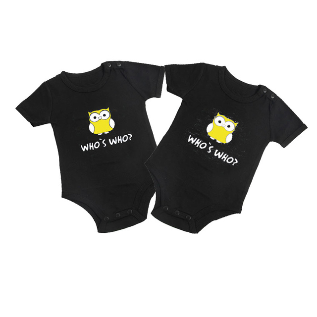 008d679c5 Culbutomind Whos Who Print Baby Bodysuit Funny Twins Baby Clothes 2 PCBody  Suits Twins Baby Clothing