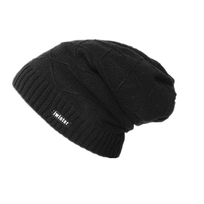где купить XUYE autumn winter men knitted hats thicken warm head  warmer casual elastic caps lady girl hat women cap Skullies Beanies дешево