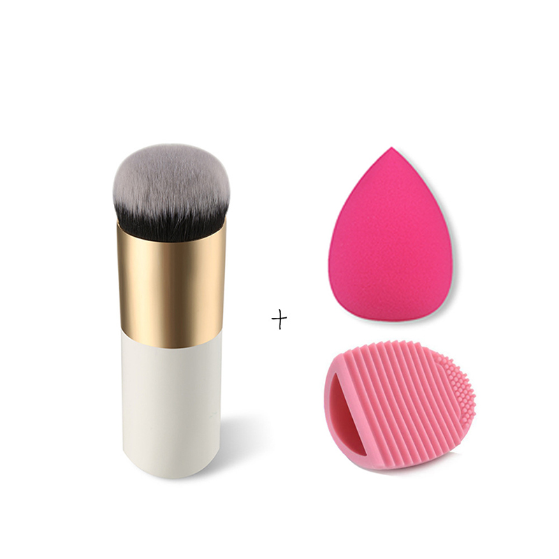 1Pc Professional Makeup Brushes Soft Foundation Powder Mask Brush Cosmetic Tools Pincel Maquiagem + Puff+Make Up Brush Cleaner 10 pcs makeup brush beauty cosmetic foundation blend tools cream puff makeup brush foundation brushes pincel maquiagem