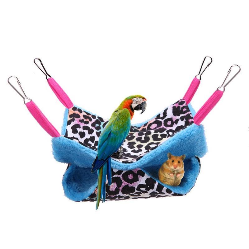 Double Layer Warm font b Pet b font Hamster Hammock Nest Squirrel Hanging Blanket Mat Bed