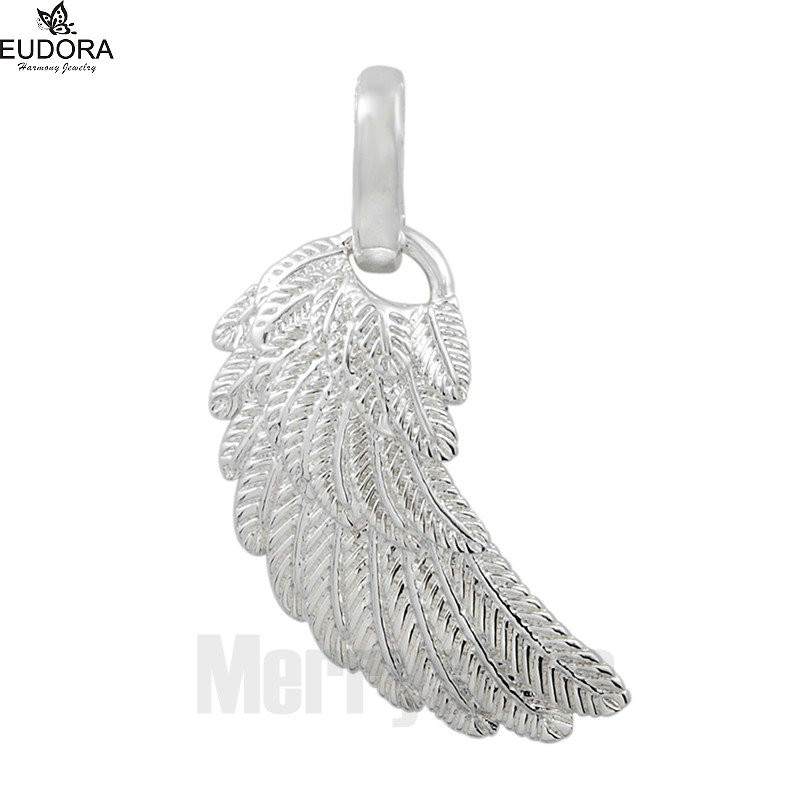 Floating Charm Angel Wing Chime Ball Harmony Angel Wing Baby Caller Mexico Bola Pendant Chain Baby Handprints Necklace Jewelry