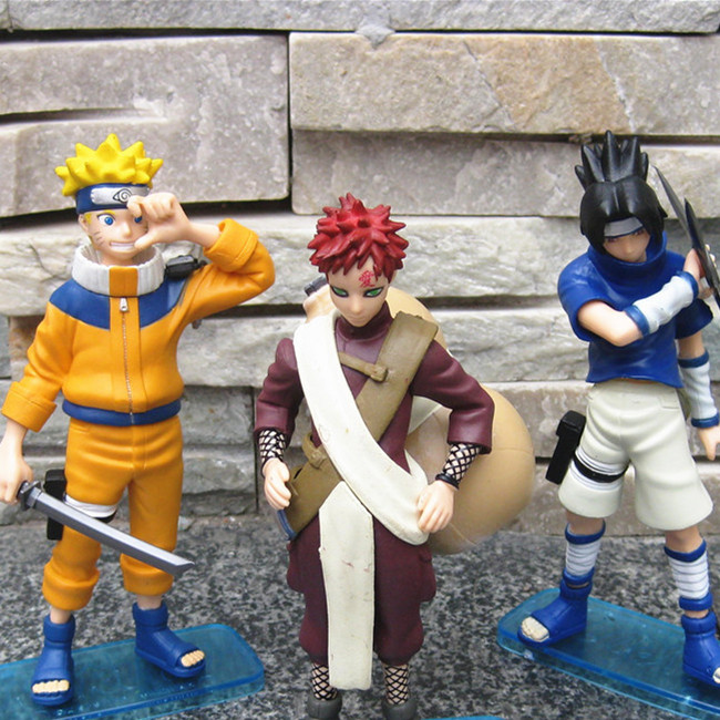 ФОТО SANITGI Naruto Shippuden Naruto+Sasuke+Gaara Action Figure 3pcs/set 16cm PVC Collection Model Toy Free Shipping