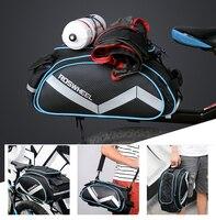 New Roswheel Bicycle Bag Multifunction 13L Bike Tail Rear Bag Saddle Cycling Bicicleta Basket Rack Trunk Bag Shoulder Handbag