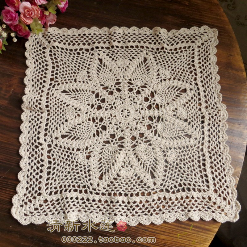 2014 New Free Shipping Cotton Crochet Lace Sofa Cover
