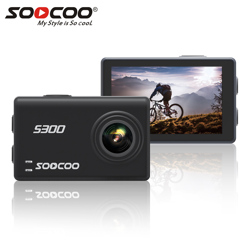"""SOOCOO S300 Action Camera 2.35"""" touch lcd Hi3559V100 + IMX377 4K 30fps 1080P 120fps EIS Wifi 12MP remote external mic sport cam"""