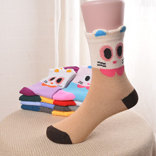 5Pairs/Lot Cartoon Baby Socks autumn and winter Children Sock Breathable Cotton Kid For Boys Girls