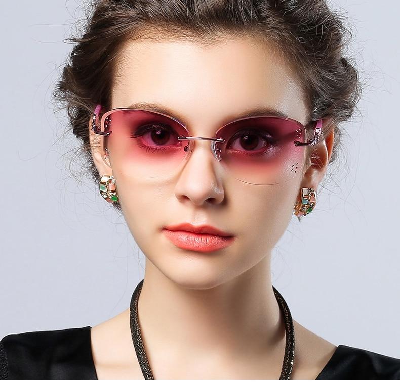 Randlose Box Rezept Diamant Große Uv400 Sonnenbrille Angepasst Trimmen Ultra Randlose Gläser 105 licht Gläser Objektiv 518qxwxUP