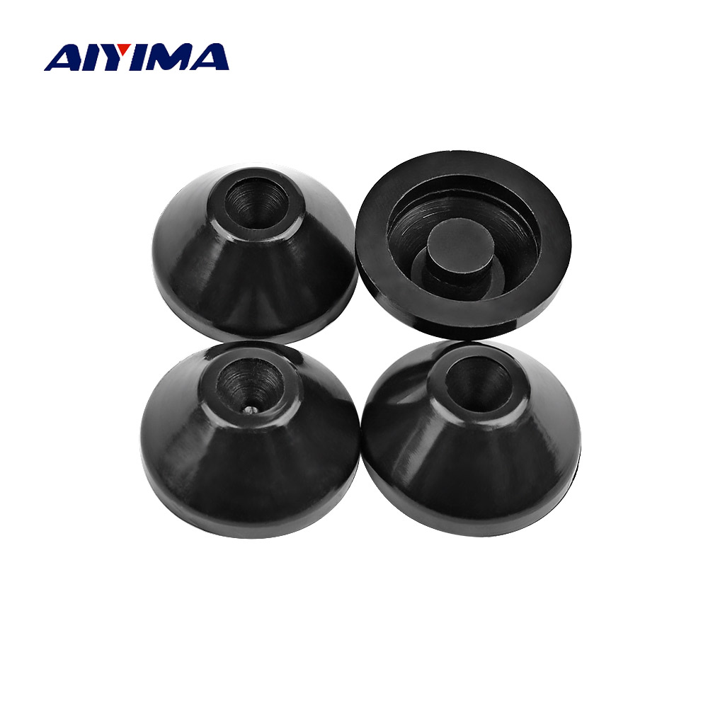 AIYIMA 4Pcs Audio ABS Speaker Stand Spikes 27x13mm Speakers Repair Parts Foot Pads DIY For Home Theater Accessories Kits