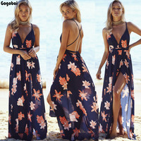 New Hot Sale Womens Floral Long Maxi Dress Short Sleeve Evening Party Summer Sundress