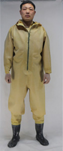 1mm Yellow Rubber Zip Breathable Chest Waders with fly Fishing Boots Wader Stocking Foot waadschoenen respirant cuissarde peche