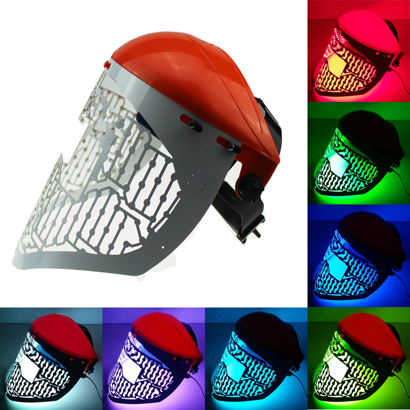 3 color blue red green photon light therapy skin led energy mask for anti-aging and skin rejuvenation