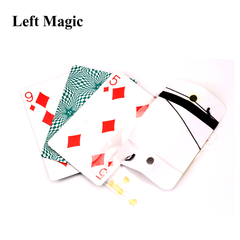Floating Poker Card Hummingbird UFO Cards Stage Street Close-Up Magic Tricks ER