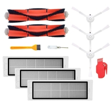 2Pcs Main Brush+3Pcs Hepa Filter+3Pcs Side Brush Vacuum Cleaner High-Efficient Cleaning Sweeping Suitable For Xiaomi Mi Robot цена и фото